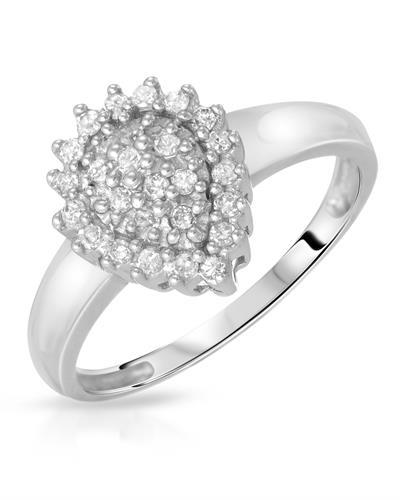 Brand New Ring with 0.26ctw diamond 10K White gold