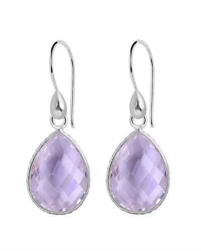 Brand New Earring with 18ctw amethyst 925 Silver sterling silver