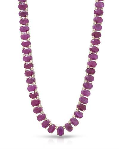 Lundstrom Brand New Necklace with 65ctw ruby 14K Yellow gold