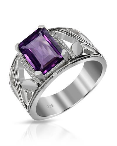 Brand New Ring with 2.2ctw amethyst 925 Silver sterling silver