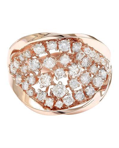 1.40 Carat Natural Diamond 14K Solid Rose Gold Ring