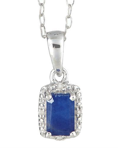 Brand New Necklace with 0.66ctw of Precious Stones - diamond and sapphire 925 Silver sterling silver