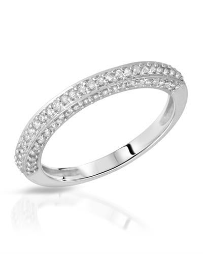 Brand New Ring with 0.36ctw diamond 10K White gold
