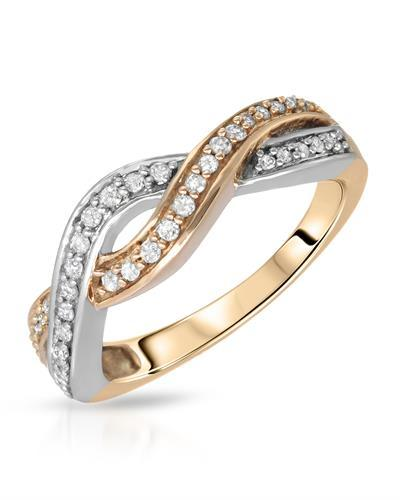 Brand New Ring with 0.25ctw diamond 10K Two tone gold
