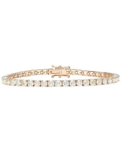 8.08 Carat Natural Diamond 14K Solid Rose Gold Bracelet