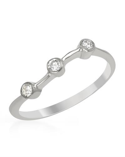 Brand New Ring with 0.15ctw diamond 14K White gold