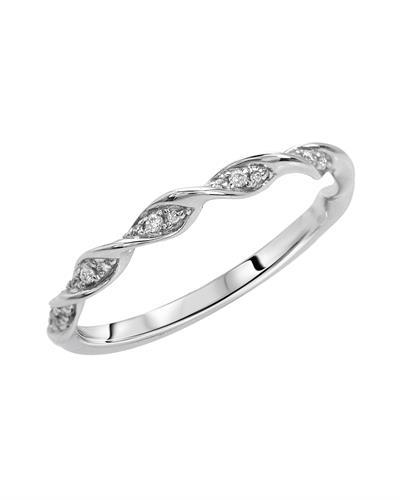 Brand New Ring with 0.08ctw diamond 14K White gold