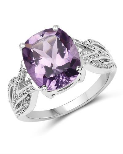 Brand New Ring with 4.2ctw amethyst 925 Silver sterling silver