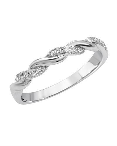 Brand New Ring with 0.1ctw diamond 14K White gold
