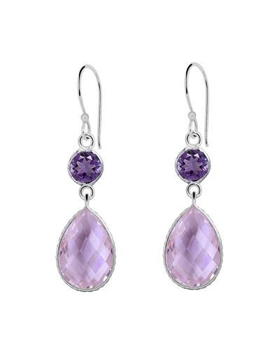 Brand New Earring with 19.4ctw amethyst 925 Silver sterling silver