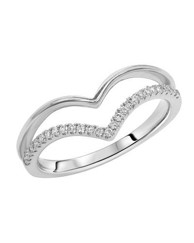 Brand New Ring with 0.18ctw diamond 14K White gold
