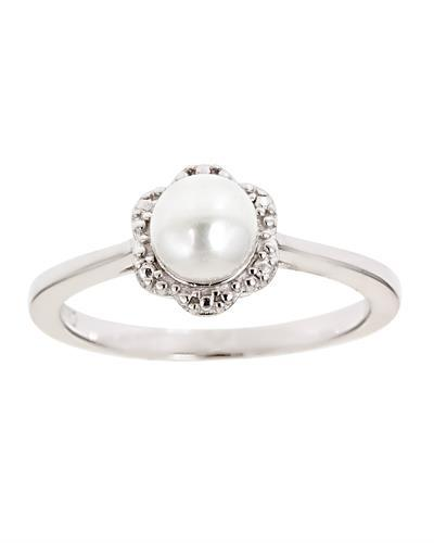Brand New Ring with 0ctw pearl 925 Silver sterling silver