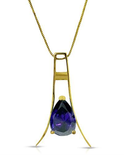 Magnolia Brand New Necklace with 1.5ctw sapphire 14K Yellow gold