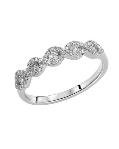 Brand New Ring with 0.36ctw diamond 14K White gold