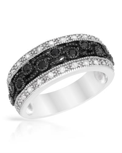 Brand New Ring with 0.48ctw of Precious Stones - diamond and diamond 925 Silver sterling silver