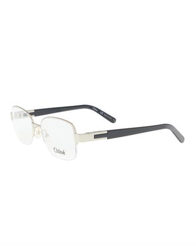Chloe CE2119 730 Brand New Eyeglasses  Gold metal and  Grey plastic