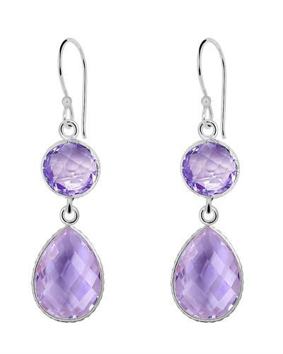 Brand New Earring with 21.15ctw amethyst 925 Silver sterling silver