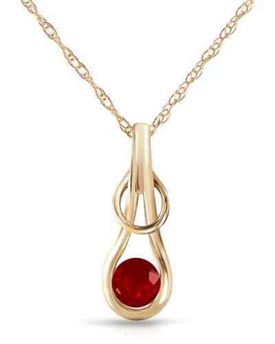 Magnolia Brand New Necklace with 0.65ctw ruby 14K Yellow gold