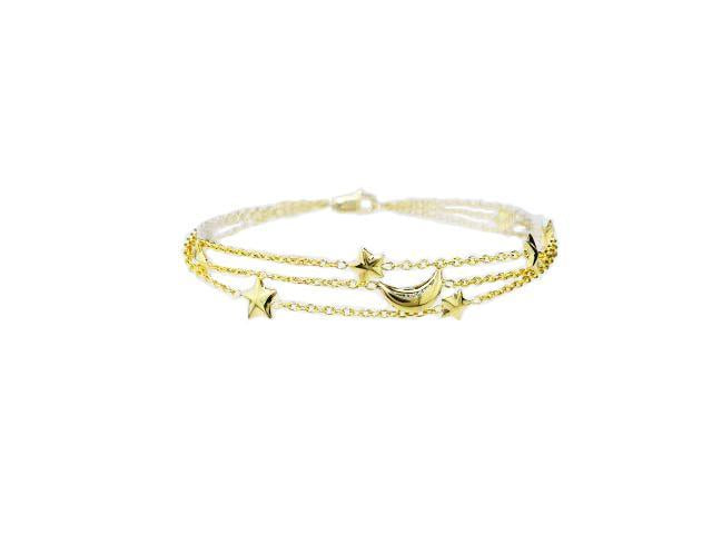 SeChic Brand New Charm Bracelet in 14K Yellow Gold