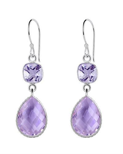 Brand New Earring with 22ctw amethyst 925 Silver sterling silver