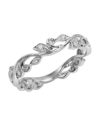 Brand New Ring with 0.2ctw diamond 14K White gold
