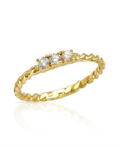 Brand New Ring with 0.16ctw diamond 14K Yellow gold