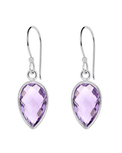 Brand New Earring with 9.9ctw amethyst 925 Silver sterling silver