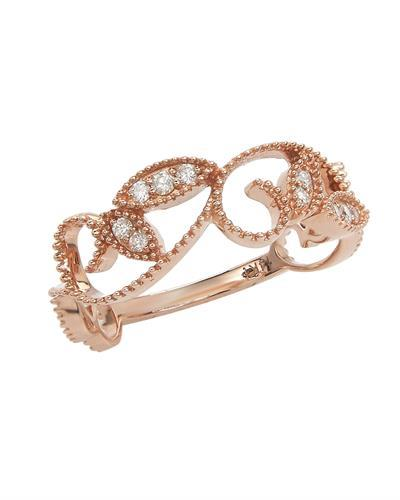 Brand New Ring with 0.14ctw diamond 14K Rose gold