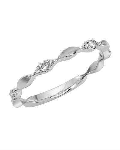 Brand New Ring with 0.14ctw diamond 14K White gold