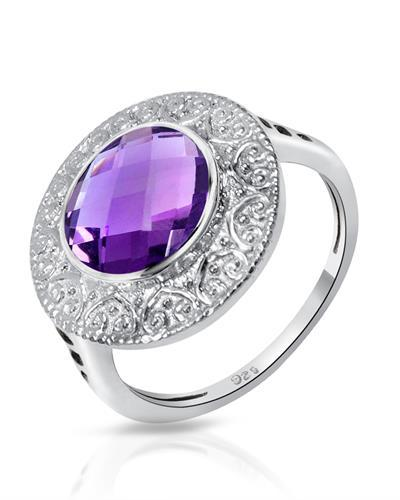 Brand New Ring with 3.3ctw amethyst 925 Silver sterling silver
