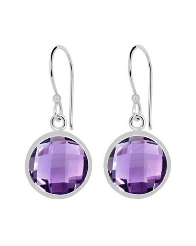 Brand New Earring with 10.8ctw amethyst 925 Silver sterling silver
