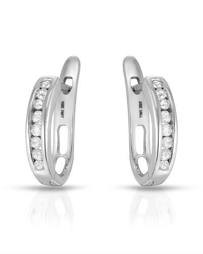 Brand New Earring with 0.25ctw diamond 10K White gold