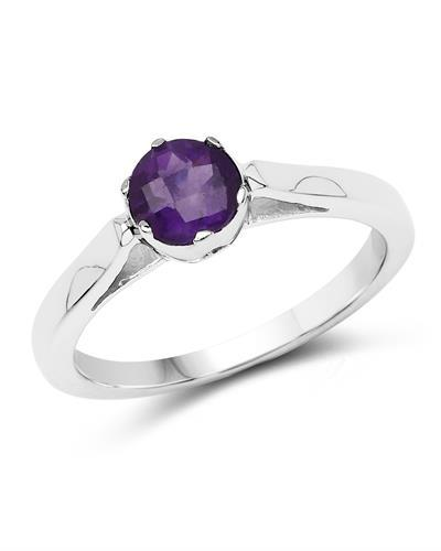 Brand New Ring with 0.65ctw amethyst 925 Silver sterling silver