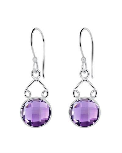 Brand New Earring with 6.5ctw amethyst 925 Silver sterling silver
