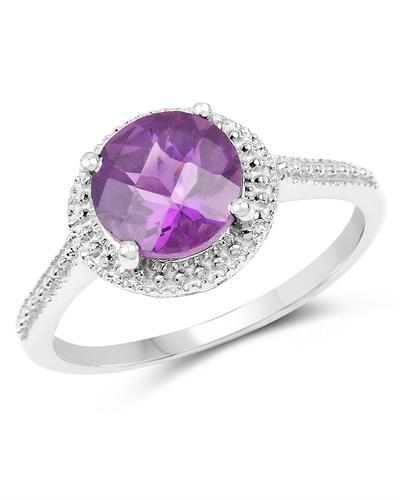 Brand New Ring with 1.76ctw amethyst 925 Silver sterling silver