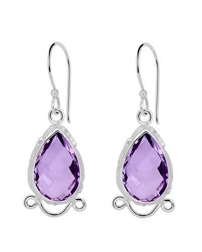 Brand New Earring with 9.5ctw amethyst 925 Silver sterling silver