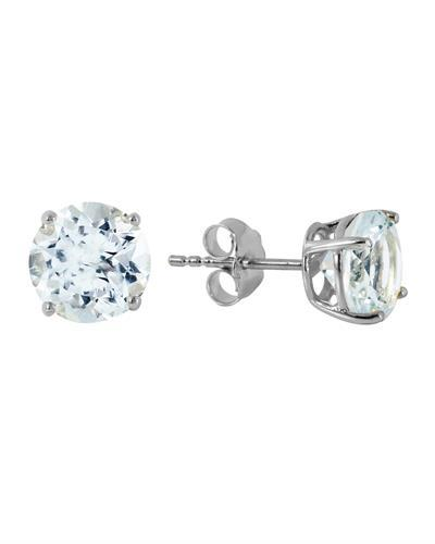 Magnolia Brand New Earring with 3.1ctw aquamarine 14K White gold