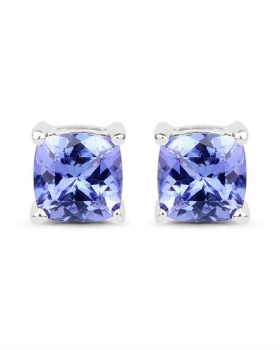 Brand New Earring with 1.7ctw tanzanite 14K White gold