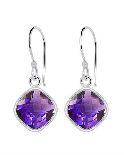 Brand New Earring with 7.2ctw amethyst 925 Silver sterling silver