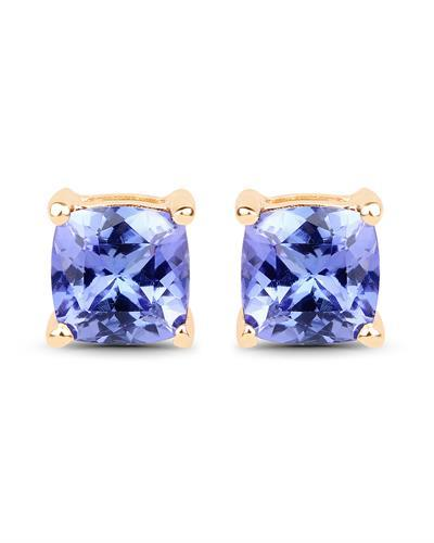 Brand New Earring with 1.7ctw tanzanite 14K Yellow gold