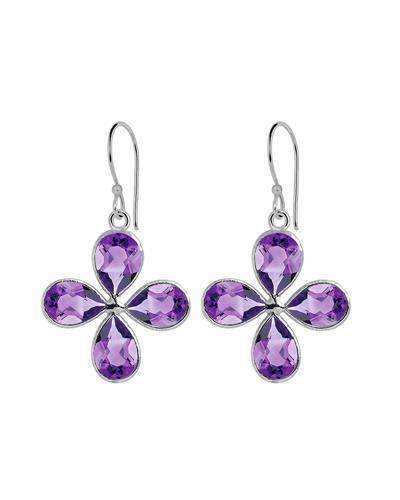 Brand New Earring with 13.7ctw amethyst 925 Silver sterling silver
