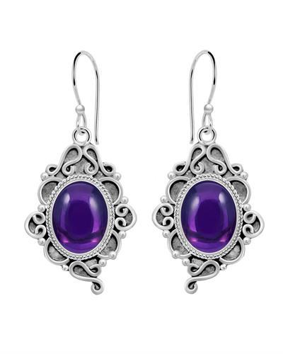 Brand New Earring with 6ctw amethyst 925 Silver sterling silver