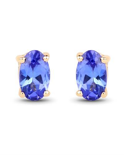 Brand New Earring with 0.5ctw tanzanite 14K Yellow gold