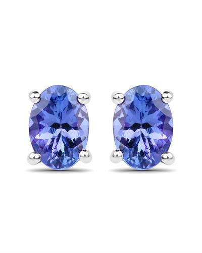 Brand New Earring with 1.3ctw tanzanite 14K White gold
