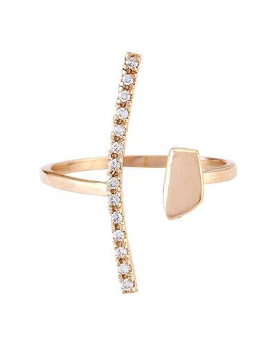 0.12 Carat Natural Diamond 14K Solid Rose Gold Ring