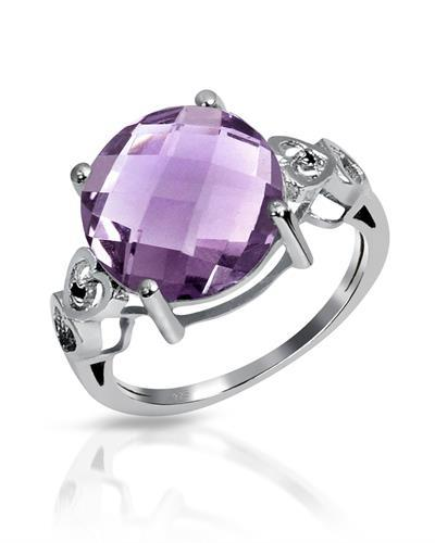 Brand New Ring with 5.5ctw of Precious Stones - amethyst and spinel 925 Silver sterling silver