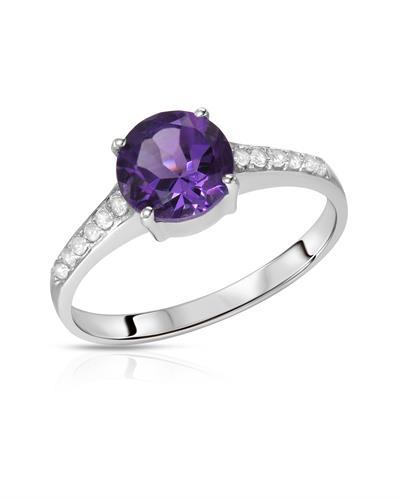 Brand New Ring with 1.32ctw of Precious Stones - amethyst and topaz 925 Silver sterling silver