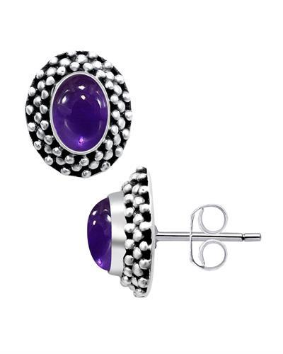 Brand New Earring with 1.8ctw amethyst 925 Silver sterling silver