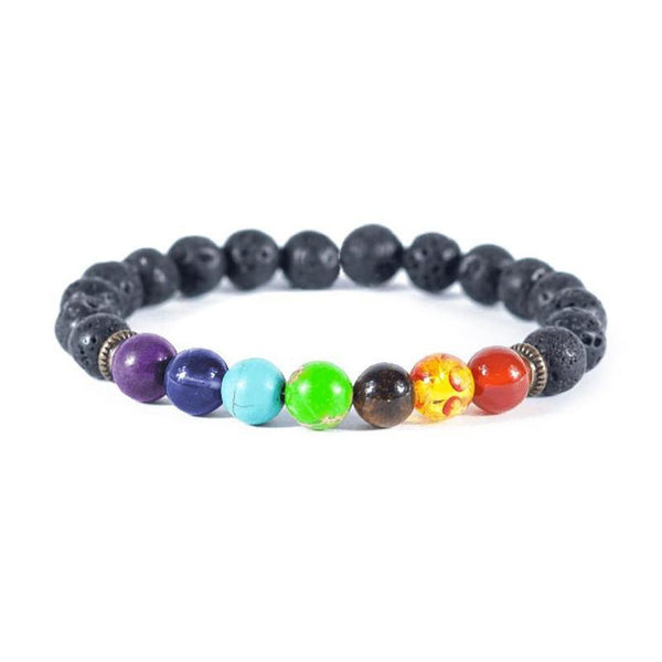 Bedazzled Bijou Brand New Chakra Bracelet with Bead Stones in 925 Sterling Silver