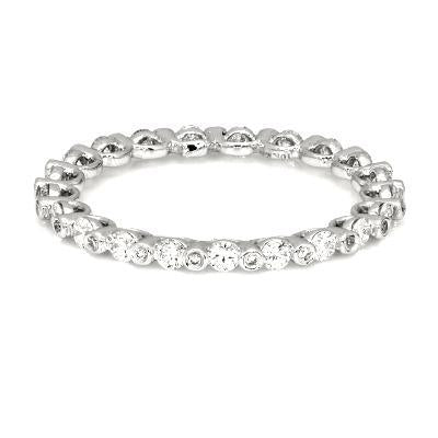 FD Brand New Ring with 0.63ctw Lab Grown Diamonds in 14K White Gold